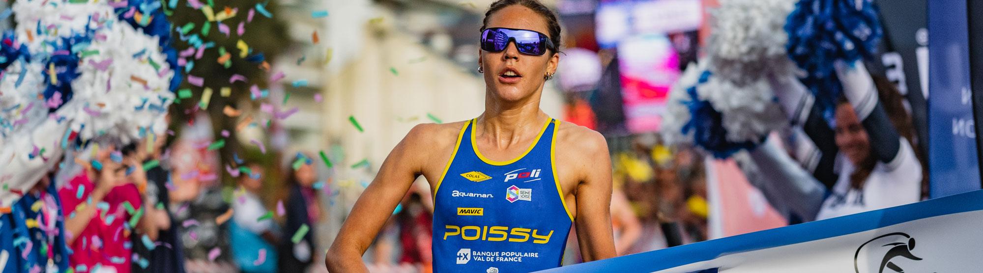 poissy triathlon Cassandre Beaugrand gagne à la Baule