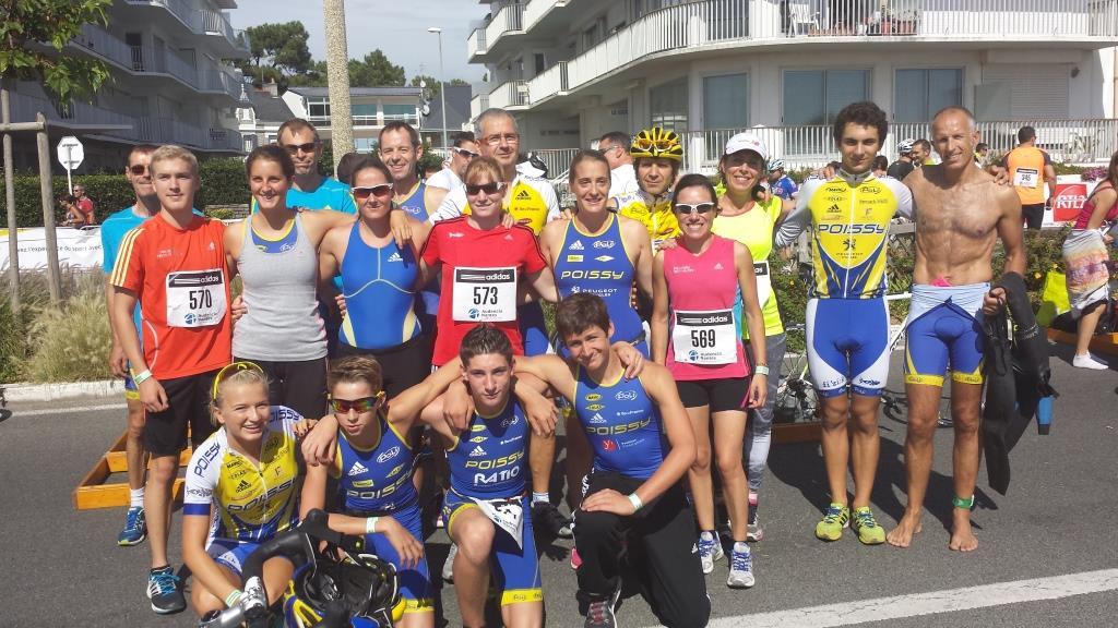 poissy triathlon groupe - la baule 2014