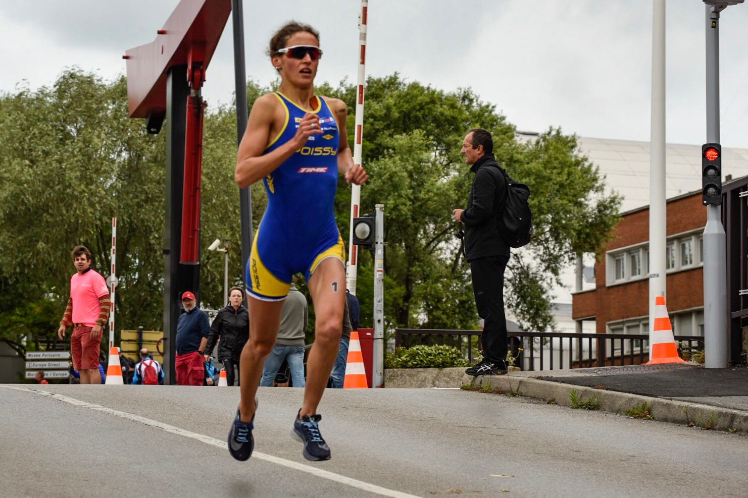 Léonie Périault au triathlon de Dunkerque